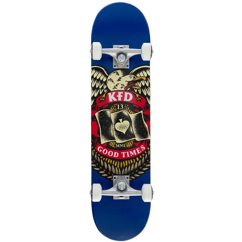 KFD Badge Young Guns Complete Skateboard Navy 7.75