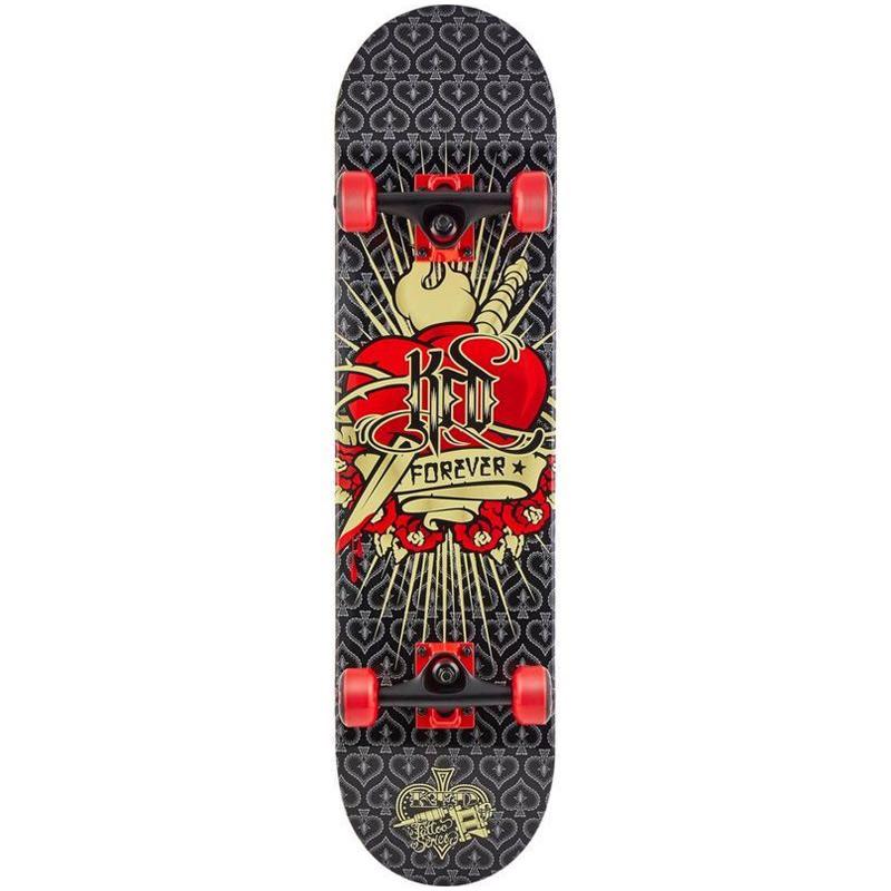 KFD Tattoo Heart Young Guns Complete Skateboard 7.9