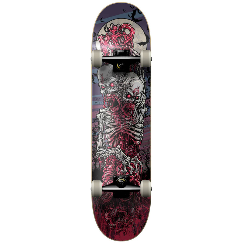 KFD Young Gun Two Headed Zombie Complete Skateboard 7.75