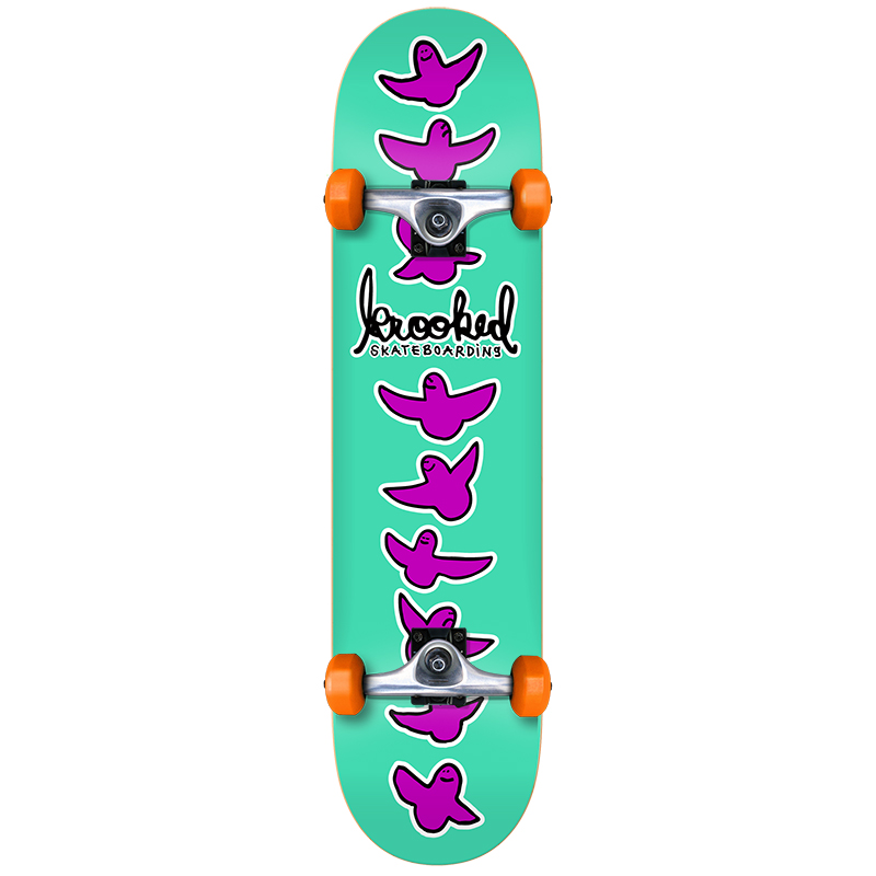 Krooked Birdical Small Complete Skateboard 7.5