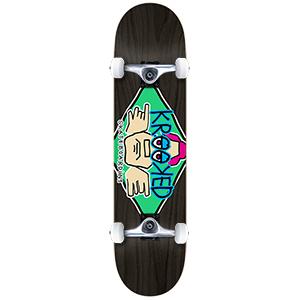 Krooked Diamond Eyes Medium Complete Skateboard 7.75