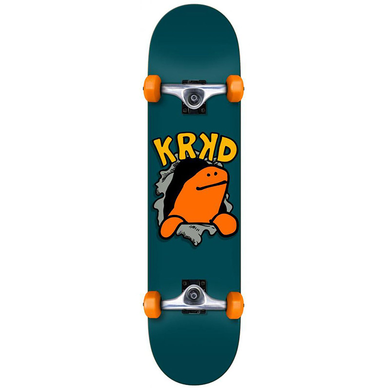 Krooked Shmoo Face First Mini Complete Skateboard 7.38