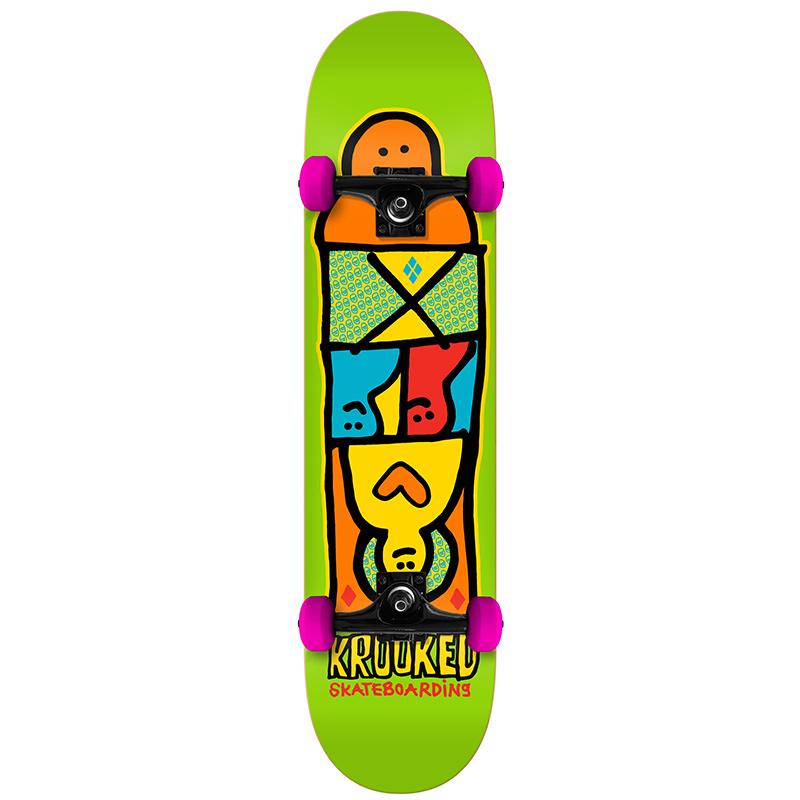 Krooked Shmoozer Mini Complete Skateboard 7.3