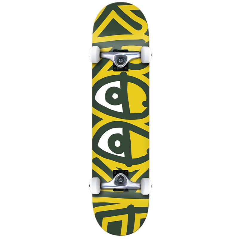 Krooked Team Big Eyes Mini Complete Skateboard 7.3