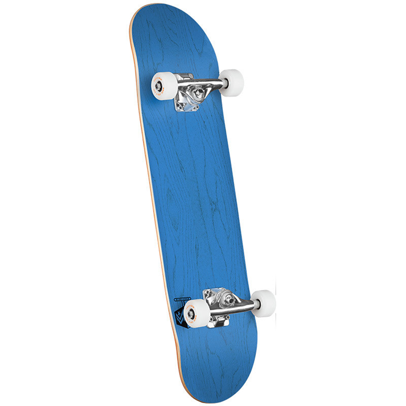 Mini Logo Chevron Detonator 15 Birch Complete Skateboard Shape 242 Dyed Blue 8.0