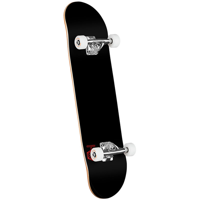 Mini Logo Chevron Detonator 15 Birch Complete Skateboard Shape 291 Solid Black 7.75