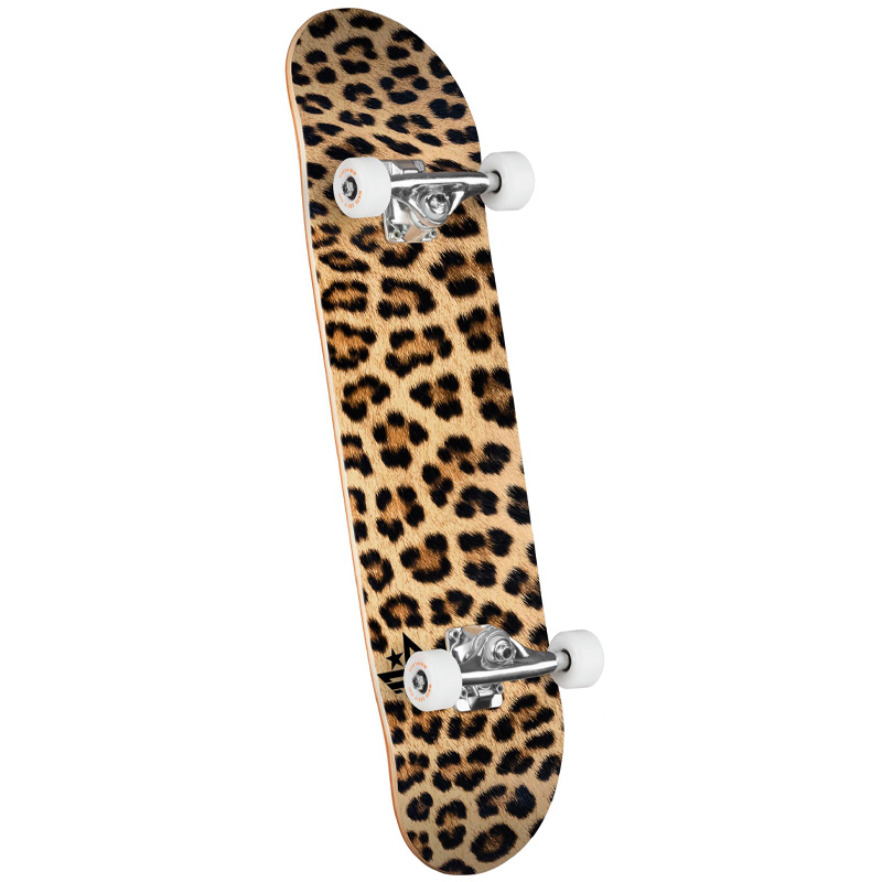 Mini Logo Leopard Fur 18 Complete Skateboard Shape 243 8.25