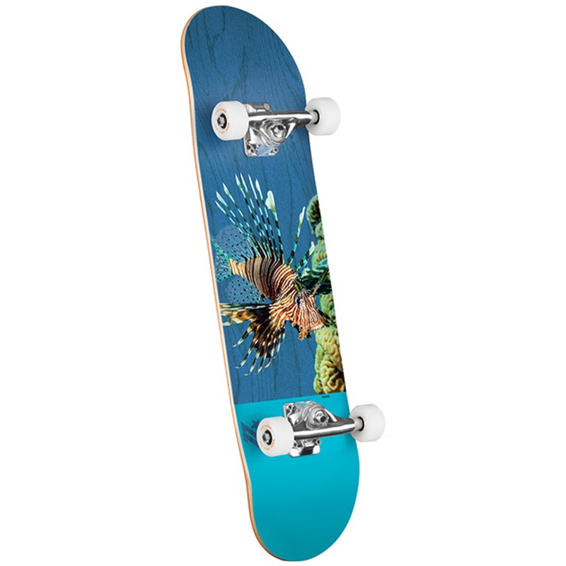 Mini Logo Poison Lion Fish 16 Birch Complete Skateboard Shape 242 8.0
