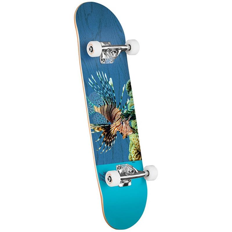 Mini Logo Poison Lion Fish 16 Birch Complete Skateboard Shape 291 7.75