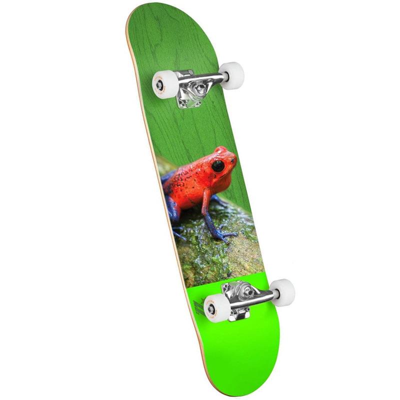 Mini Logo Poison Tree Frog 16 Birch Complete Skateboard Shape 242 8.0