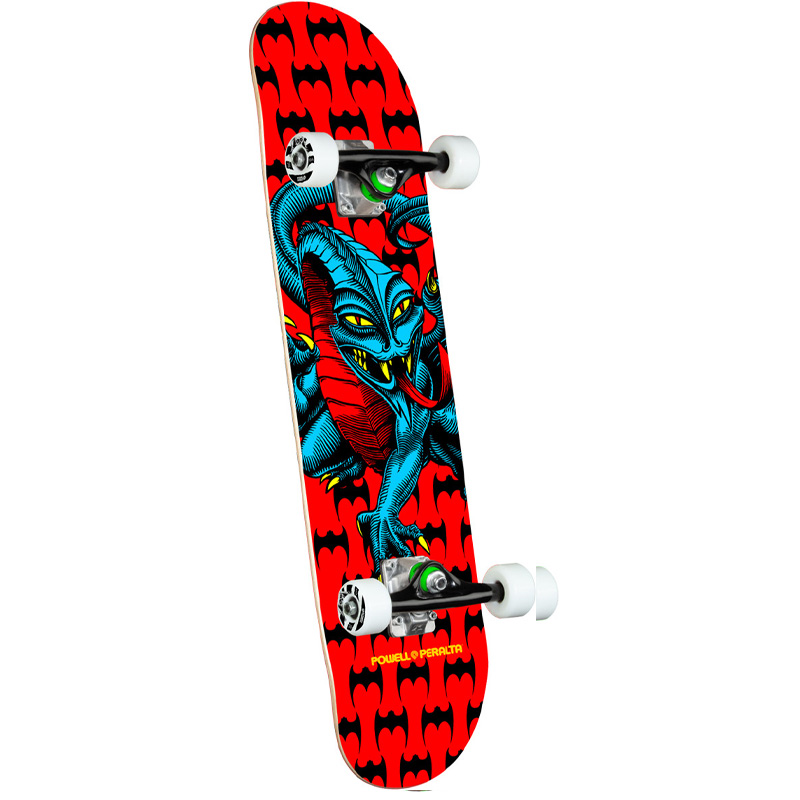 Powell Peralta Cab Dragon One Off Complete Skateboard Shape 291 Red 7.75