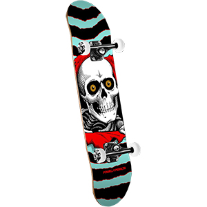 Powell Peralta Ripper Complete Skateboard Turq/Red 7.5