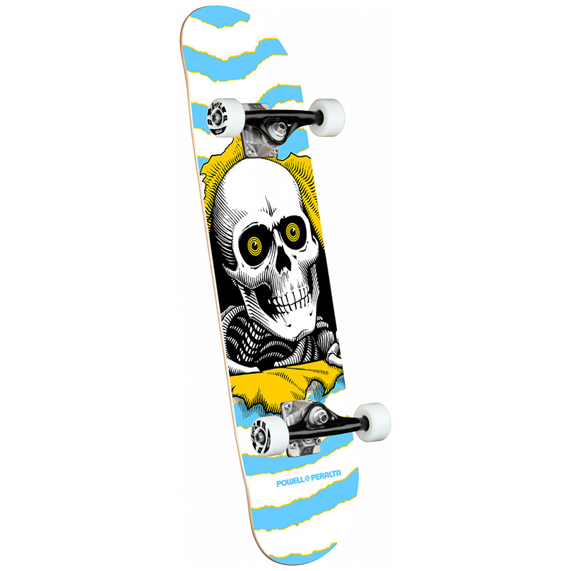 Powell Peralta Ripper Light Complete Skateboard Shape 255 Blue 7.5