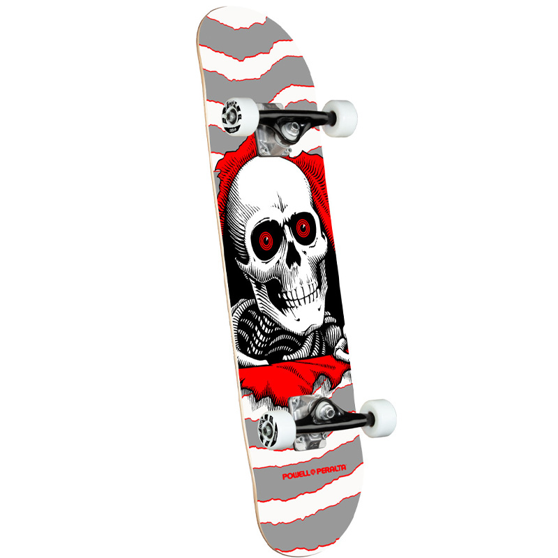 Powell Peralta Ripper One Off Complete Skateboard Shape 242 Silver 8.0