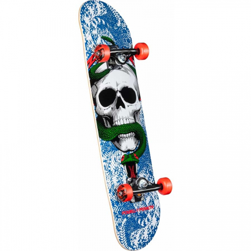 Powell Peralta Skull And Snake Complete Skateboard Blue/Red 7.625