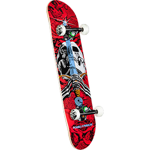 Powell Peralta Skull And Sword One Off Complete Skateboard Red/White 7.5