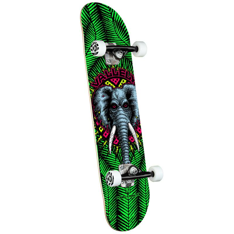 Powell Peralta Vallely Elephant Complete Skateboard Shape 242 Green 8.0