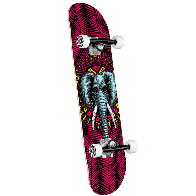 Powell Peralta Vallely Elephant Complete Skateboard Shape 243 Pink 8.25