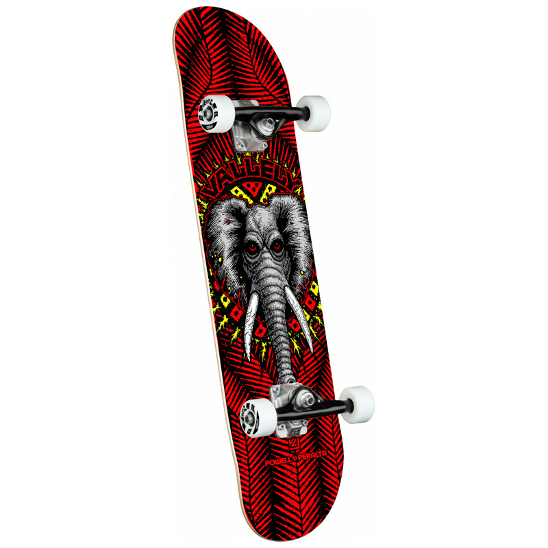 Powell Peralta Vallely Elephant Complete Skateboard Shape 243 Red 8.25