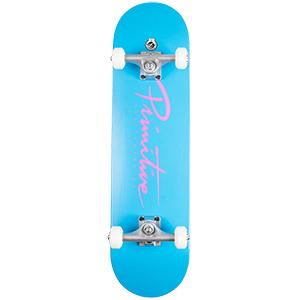 Primitive Nuevo Script Complete Skateboard Blue 8.0