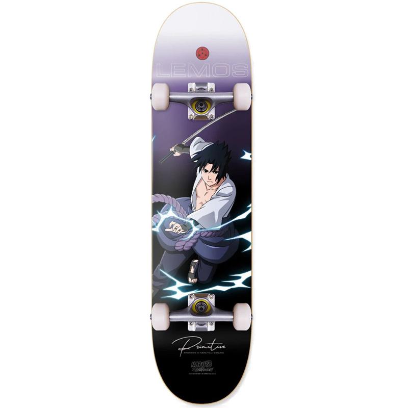 Primitive x Naruto Lemos Sasuke Complete Skateboard 8.25