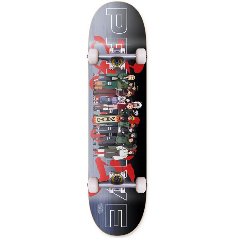 Primitive x Naruto Team Leaf Village Complete Skateboard 8.125