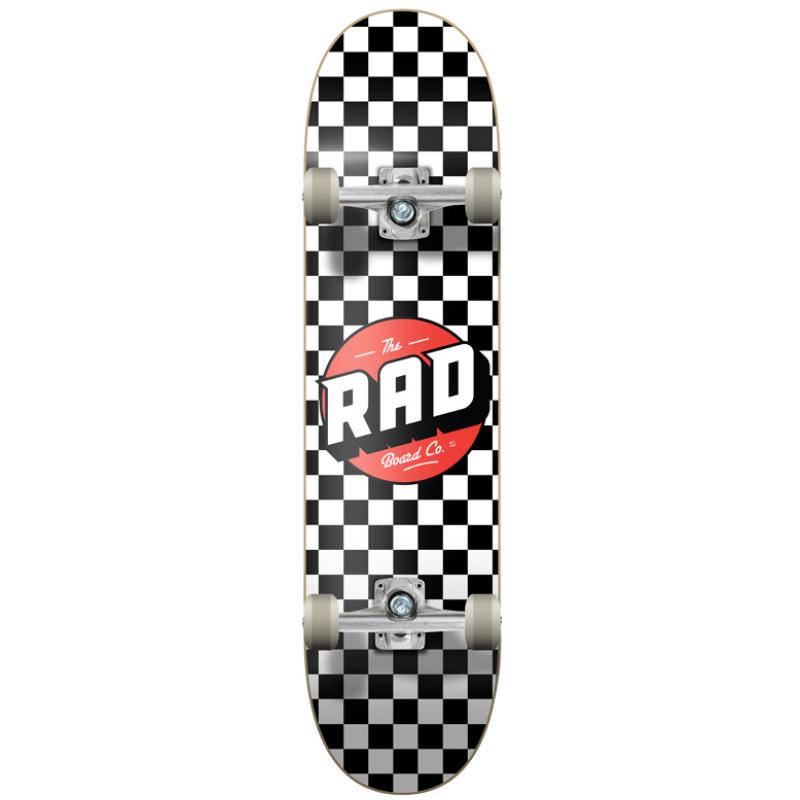 Rad Checkers Dude Crew Complete Skateboard Black/White 7.75