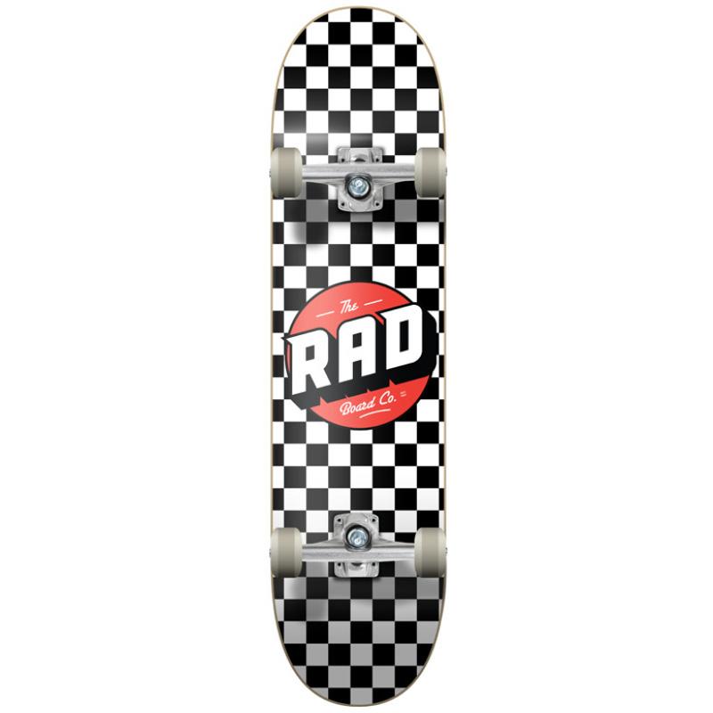 Rad Checkers Dude Crew Complete Skateboard Black/White 8.0