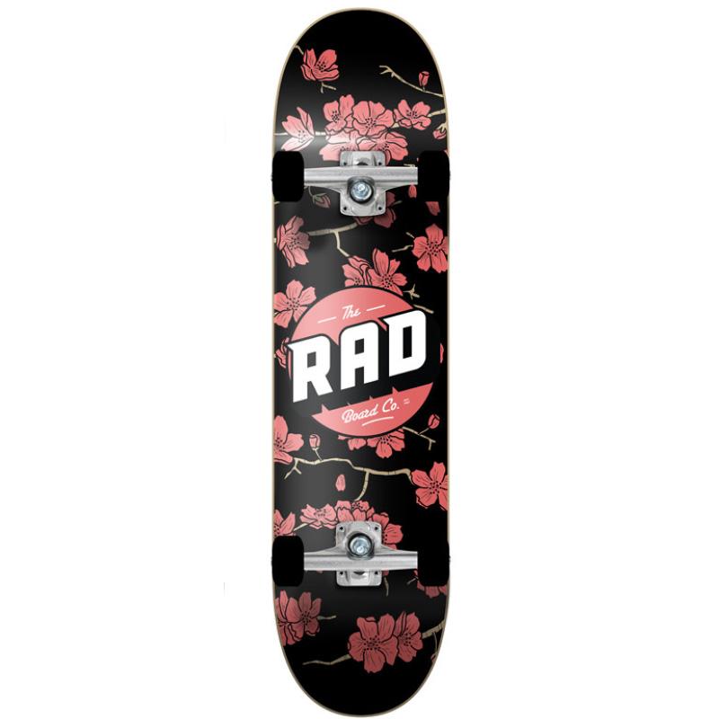 Rad Cherry Blossom Dude Crew Complete Skateboard Black/Red 8.0