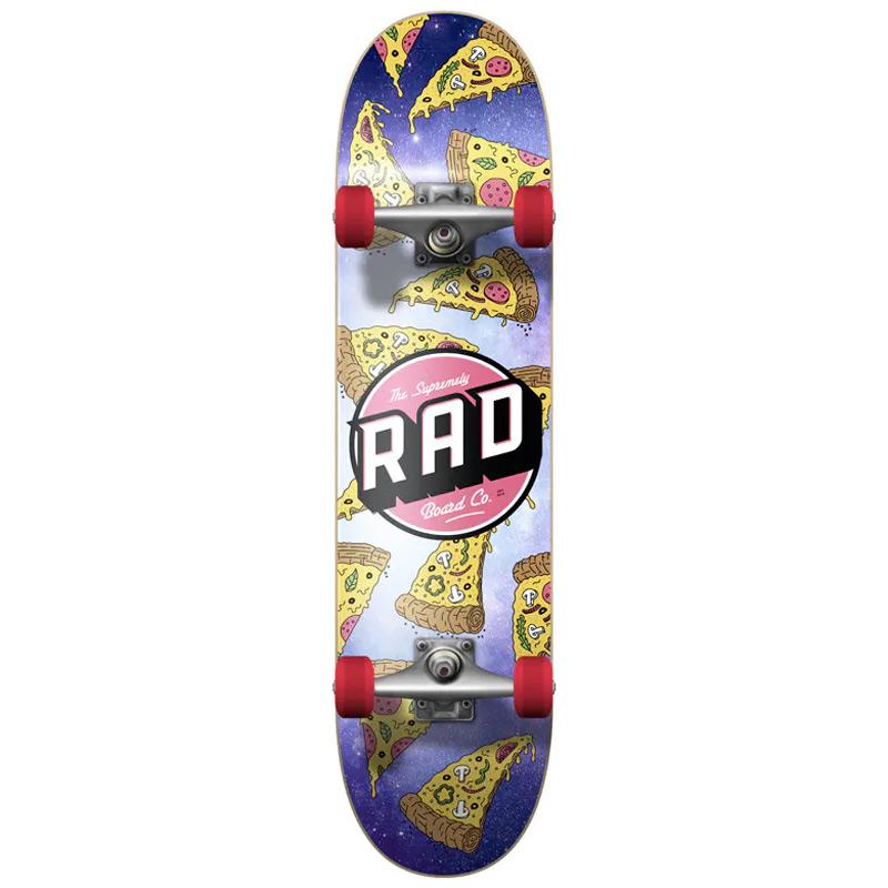 RAD Dude Crew Pizza Galaxy Complete Skateboard 8.0