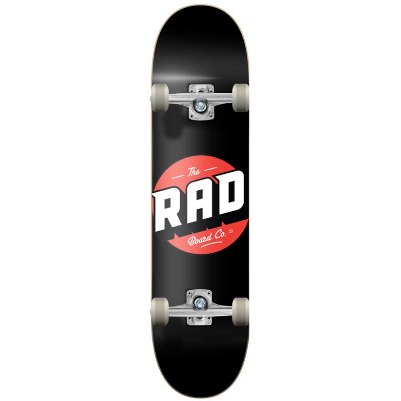 Rad Logo Classic Progressive Complete Skateboard Black 8.125