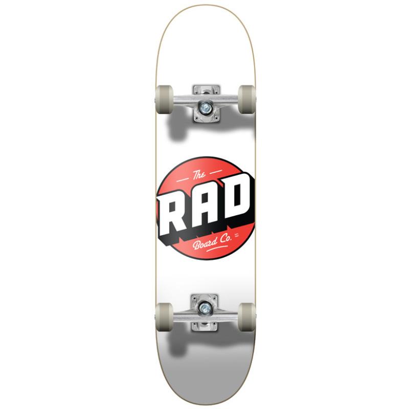 Rad Logo Classic Progressive Complete Skateboard White 8.0
