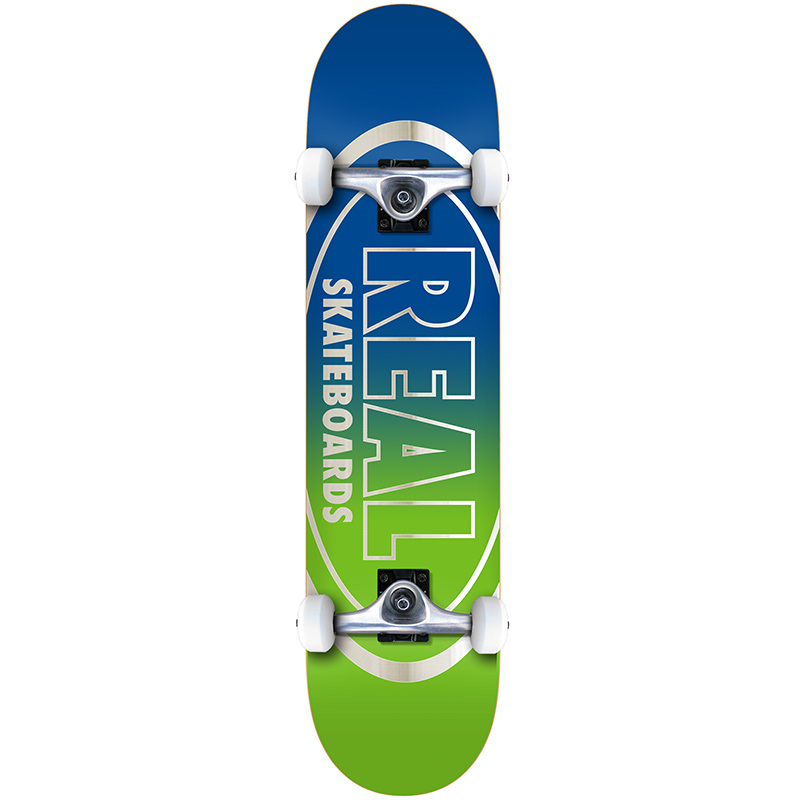 Real Golden Oval Outliners MD Complete Skateboard 7.75
