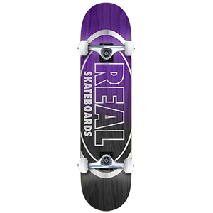 Real Metallic Oval Fades Large Complete Skateboard 8.0