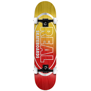 Real Metallic Oval Fades Medium Complete Skateboard 7.75