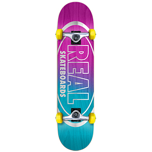 Real Metallic Oval Fades Small Complete Skateboard 7.5