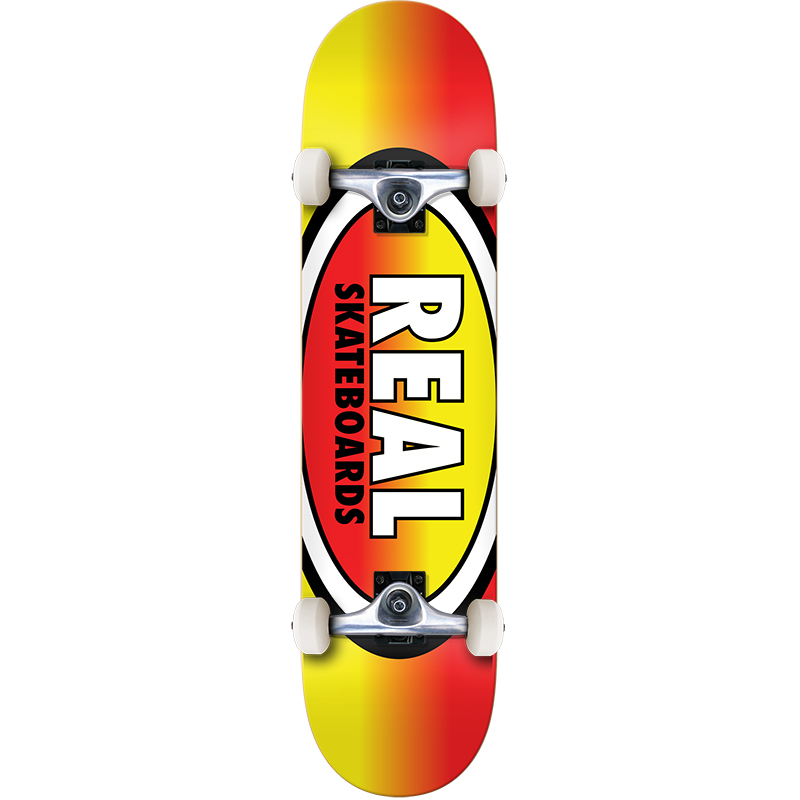 Real Oval Fades MD Complete Skateboard 7.75