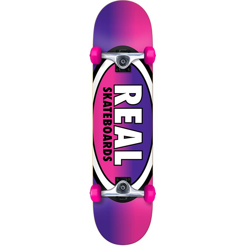 Real Oval Fades Mini Complete Skateboard 7.38