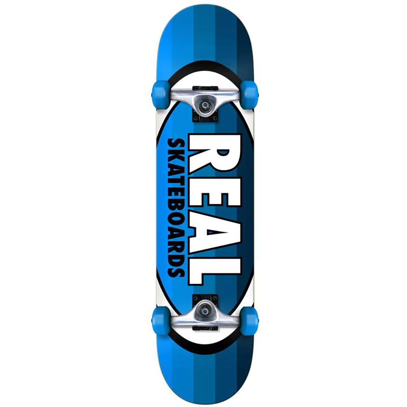 Real Oval Stripes SM Complete Skateboard 7.5