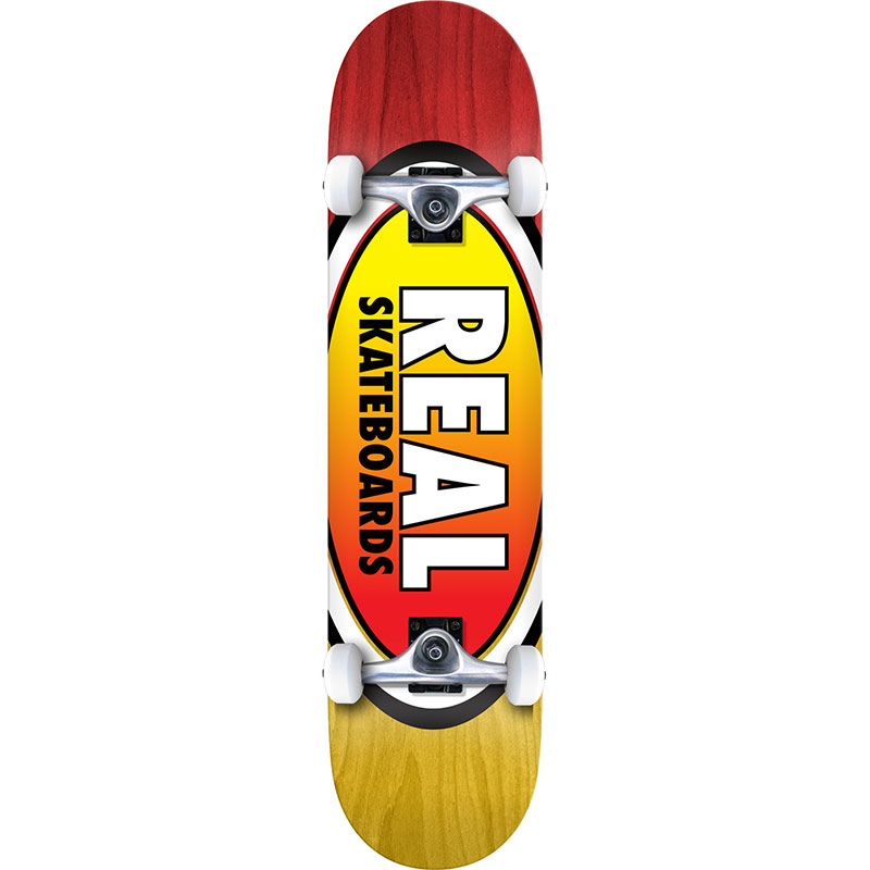 Real Oval Two Fades L Complete Skateboard 8.0