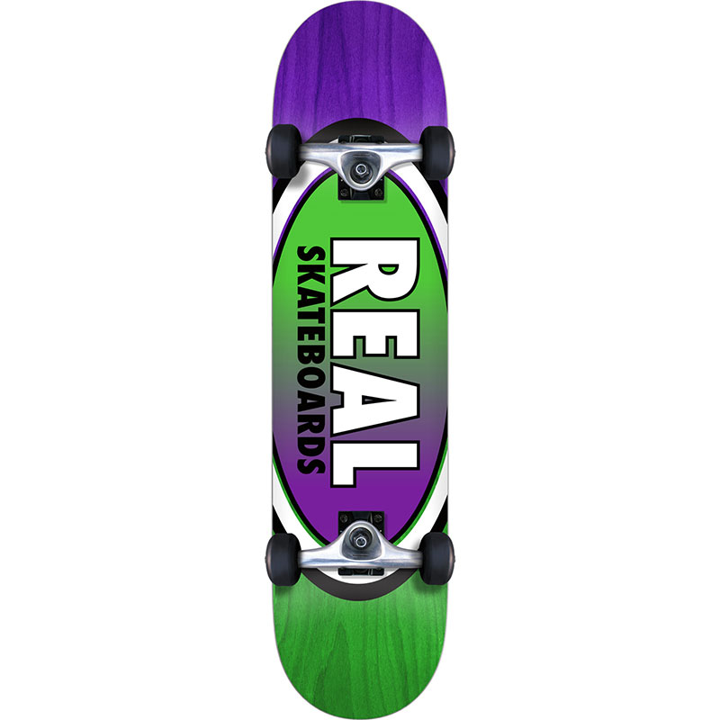 Real Oval Two Fades M Complete Skateboard 7.75