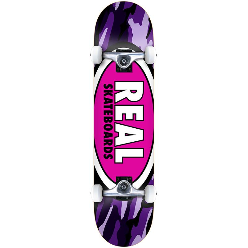 Real Team Oval Camo LG Complete Skateboard 8.0