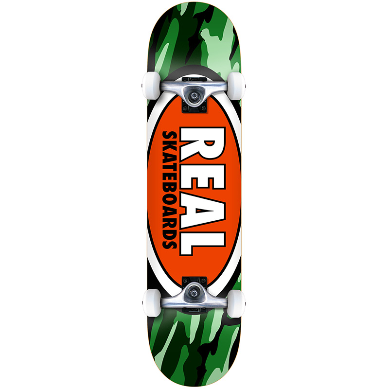 Real Team Oval Camo MD Complete Skateboard 7.75