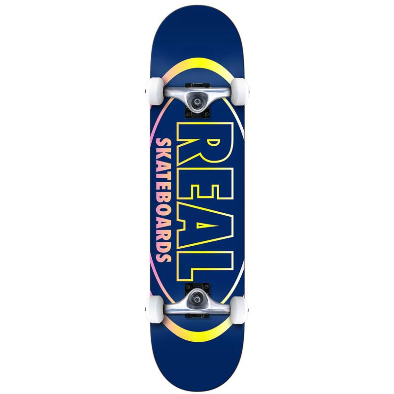 Real Team Oval Gleams LG Complete Skateboard 8