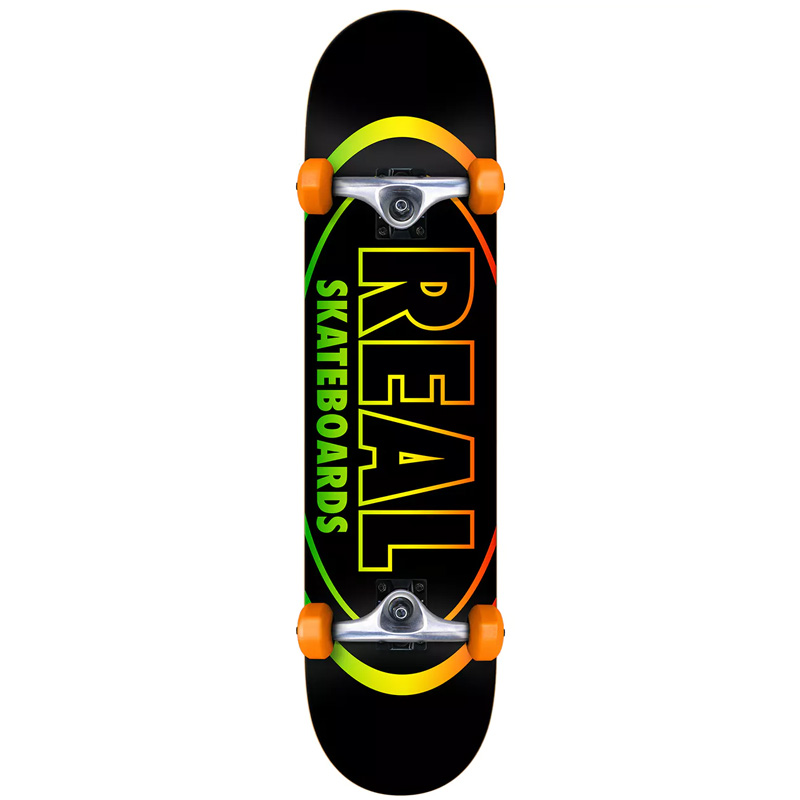 Real Team Oval Gleams MD Complete Skateboard 7.75