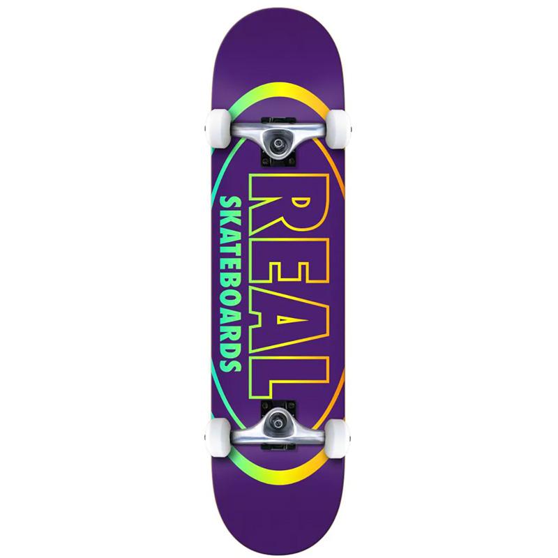 Real Team Oval Gleams Mini Complete Skateboard 7.38