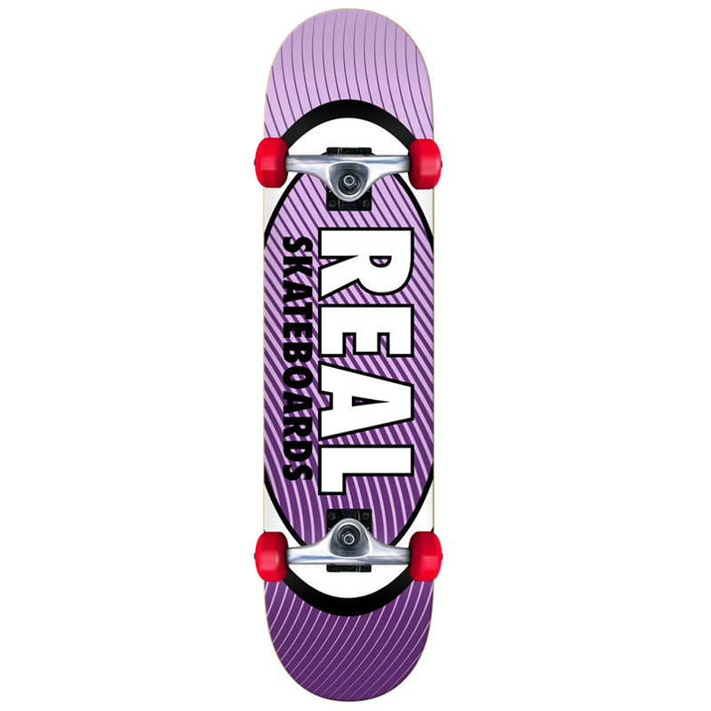 Real Team Oval Heatwave Mini Complete Skateboard 7.3