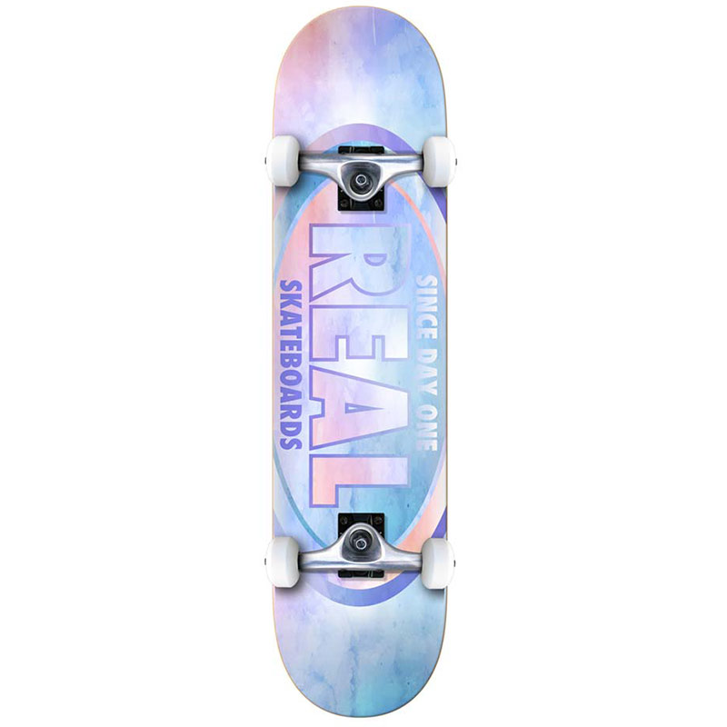 Real Team Oval Watercolor LG Complete Skateboard 8.0