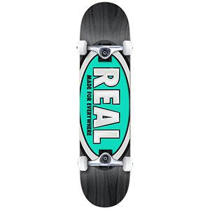 Real Team Ovals Large Complete Skateboard 8.0