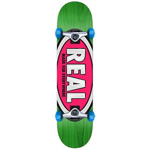 Real Team Ovals Mini Complete Skateboard 7.38